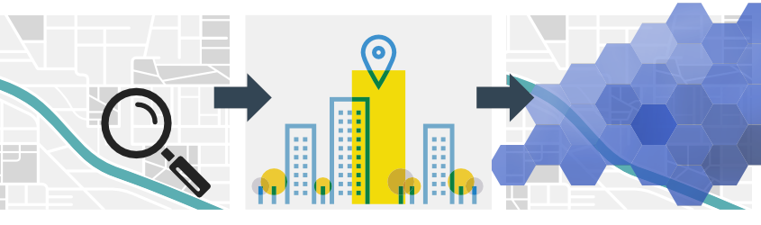 Automatic classification of buildings and routes in your service area with Smart City data.